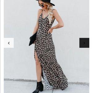 Vici Dresses - Smokin' Hot Leopard Cami Maxi Dress